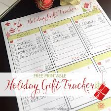 Gift Tracker Holiday Gift Tracker Free Printable Included