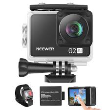 Neewer G2 <b>4K WiFi Sports Action</b> Camera with Touch Screen Ultra ...