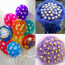birthday balloons chocolate bouquet cb12