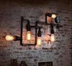 industrial bar lighting. American Vintage Industrial Water Pipe Wall Lamp Inon Lampshade Sconce Bar Coffee Light Fixtures Home Decor Lighting T