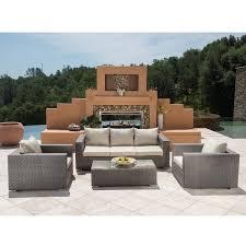 Corvus Diana 4 piece Grey Wicker Patio Furniture Set Free