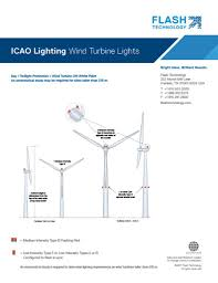 Type of lighting Oval Wind Turbine Lighting Eia Icao Annex 14 Aviation Obstruction Lights Obstacle Lights