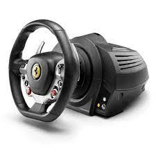 Black steering wheel + pedals analogue pc, xbox. Thrustmaster Tx Racing Wheel Ferrari 458 Italia Edition Beracer Com