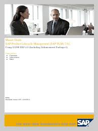 Sap Plm Master Guide For 7 2 Product Lifecycle Business Process