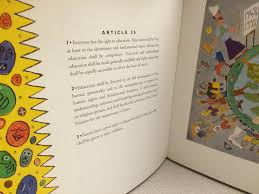 rare colorful collections picture books in historical universal declaration of human rights illustrated by william wilson