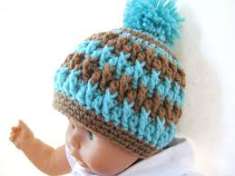 Baby Beanie Crochet Pattern Mesmerizing Pom Pom Beanie For Boy Or Girl Crochet Pattern Newborn Baby To