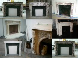 red antique fireplace mantels 2