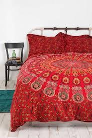 reversible duvet cover indian mandala block print cotton quilt cover queen throw
