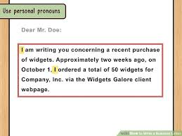 Personal Business Letter Amazing The Best Way To Write And Format A Business Letter WikiHow