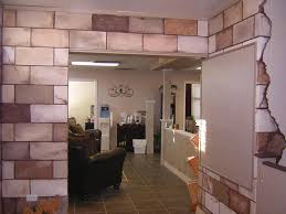 minimalist wall design for home interior using painted cinder block walls amazing home interior decoration
