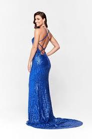 A&N Aniya- <b>Royal Blue</b> Dress with <b>Sequins</b> and <b>Lace</b> Up Back ...