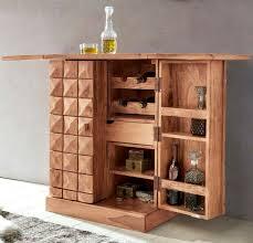 Hausbar Barschrank Schrankbar Massivholz Akazie 160 Cm Kommode Massiv Design