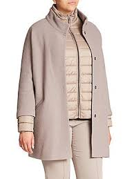 <b>Basler</b>, <b>Plus Size</b> - Boiled Wool Car Coat & Puffer <b>Jacket</b> Set