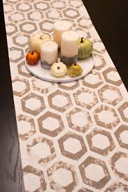 Stamped table runner