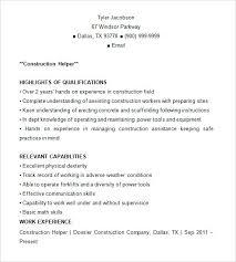 Construction Resume Skills Construction Laborer Resume Construction