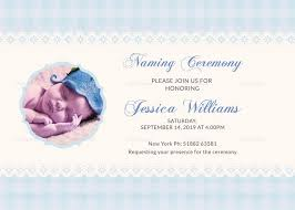 Wonderful Baby Naming Ceremony Invitation Card Template