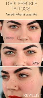 if you ve been curious about freckle tattoos this is your chance to learn everything there is to know freckle makeup is a good way to test the waters
