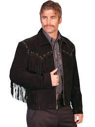 scully men s leather jacket fringe suede zip front jacket black