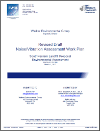 Technical Work Plans - Walker Environmental Southwestern Landfill ...