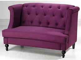 Plum Loveseat Classic Sofa Couch Tufted Wingback Purple Settee Bench Unique  #Contemporary