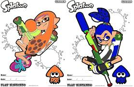 Excellent Ideas Splatoon 2 Coloring Pages Sheet Printable View In