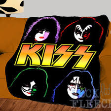 home kiss band printed photo bed throw fleece blanket