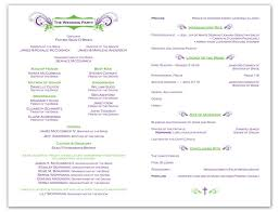 Christian Wedding Reception Agenda Sample Of Wedding Program Incep ...