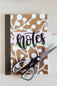 Diy Book Cover Design How To Decorate Your Notebook Cover Mod Podge Rocks