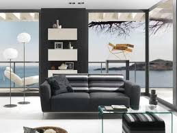 black modern living room furniture. living room contemporary ideas with beach views coupled a black sofa floral modern furniture