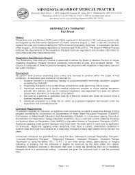 Resume Respiratory Therapy Resume