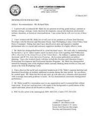 Navy Letter Of Recommendation Best Template Collection