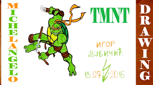 Small Picture How to Draw MICHELANGELO from Teenage Mutant Ninja Turtles TMNT