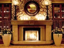 image of artwork above fireplace mantel