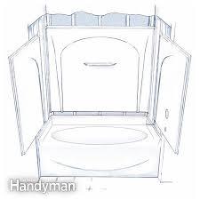 figure a four piece tub shower