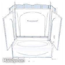 figure a four piece tub shower