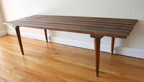 Slatted Coffee Table Mid Century Modern Slatted Bench Coffee Tables Picked Vintage