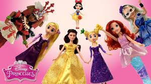 disney princess dolls tangled the series enchanting belle rapunzel moana splash ariel ally ktb