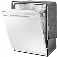 samsung dishwasher. samsung front control dishwasher with stainless steel interior (dw80j3020uw)
