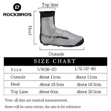 Us 14 29 45 Off Rockbros Waterproof Winter Cycling Shoe Covers Reflective Thermal Elastic Durable Windproof Bike Rain Overshoes Sneaker Covers On