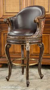 marge carson bourdeaux brown leather swivel barstool bar height barstools