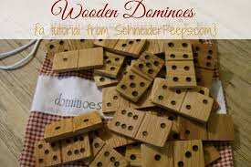 Homemade Wooden Games Wooden Dominoes Tutorial 77