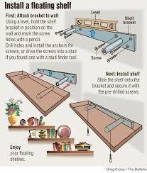 diy install floating shelf floating