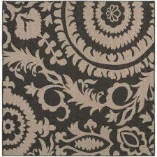 big pine black 7 ft x 7 ft square indoor outdoor area rug