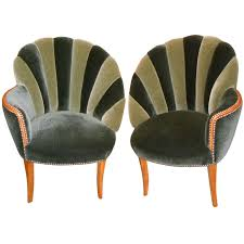 vintage art deco furniture. Hollywood Mohair Side Chairs Vintage Art Deco Furniture E