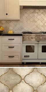 Painting Kitchen Tile Backsplash Gorgeous Walker Zanger's Contessa In Silver Leaf Is A Beautiful Backsplash In