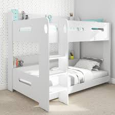 white bunk bed with stairs. Modren Bed Sky White Bunk Bed  Ladder Can Be Fitted Either Side For With Stairs T
