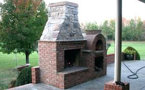 outdoor fireplace with pizza oven insert designs how to build combo fireplace kits with pizza oven outdoor combo insert