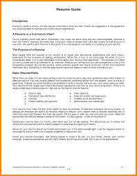 Resume Format For Part Time Job Sample How To Write A Your First