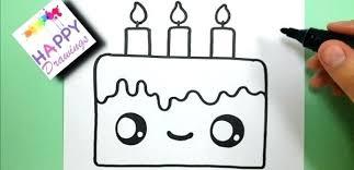 Easy To Draw Birthday Cake Thefrangipanitreecom
