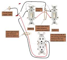 wire outlet wiring diagram power switch 3 way switches half switched switch outlet electrical power at switch 3 way switches 3 way switch wiring diagrams